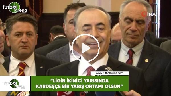 """'Mustafa Cengiz: """"Ligin ikinci yarısında kardeşçe bir yarış ortamı olsun"""""""