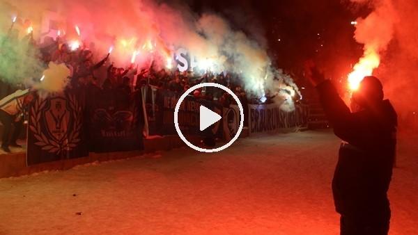 'Erzurumspor'un 52. kuruluş yıldönümü meşalelerle kutlandı
