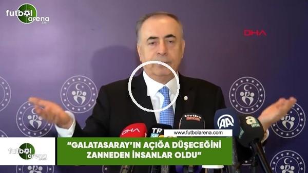 """'Mustafa Cengiz: """"Galatasaray'ın açığa düşeceğini zanneden insanlar oldu"""""""