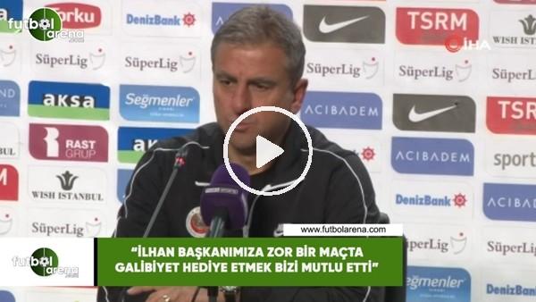 """Hamza Hamzaoğlu: """"İlhan başkanımıza zor bir maçta galibiyet hediye etmek bizi mutlu etti"""""""