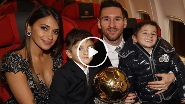 'Messi ve çoocuklarını keyifli anları