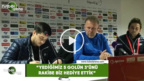 """'Prosinecki: """"Yediğimiz 5 golün 3'ünü rakibe biz hediye ettik"""""""