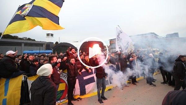 Fenerbahçeli taraftarlar Riva'da toplandı