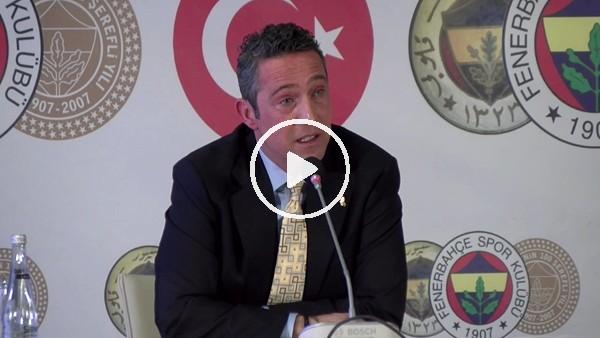 """'Ali Koç: """"Bu lig adil yönetilirse Fenerbahçe şampiyonluğun en büyük adayıdır"""""""