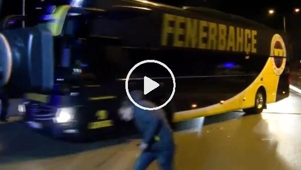 'Fenerbahçe takım otobüsüne saldırı