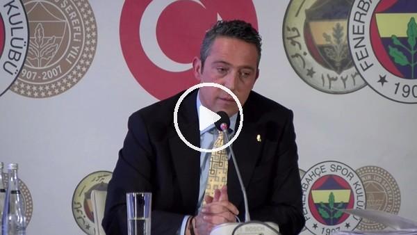 """'Ali Koç: """"Biz, konuşunca 'siyaseti futbola sokuyor' oluyoruz açık açın yapınca normal. Artık kim, kimi neye sokuyor siz karar verin"""""""