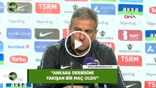 """'Hamza Hamzaoğlu: """"Ankara derbisine yakışan bir maç oldu"""""""