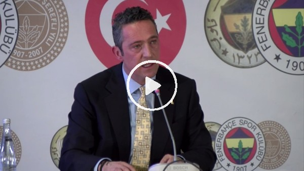 """'Ali Koç: """"Vedat'ın PFDK'ya sevki Fenerbahçe'ye medyan okumadır"""""""