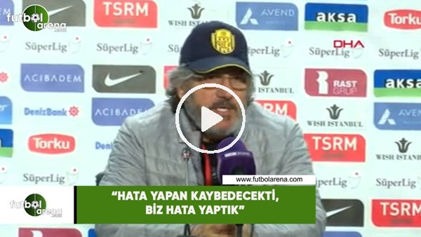 """'Mustafa Reşit Akçay: """"Hata yapan kaybedecekti, biz hata yaptık"""""""