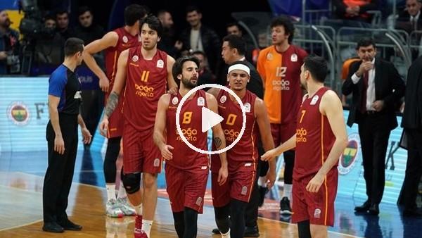 'Galatasaraylı oyuncuların Fenerbahçe galibiyeti kutlaması