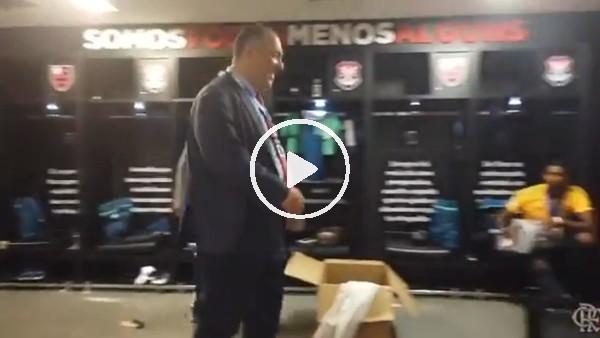 Flamengo başkan yardımcısından çılgın dans