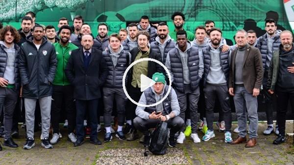 'Bursaspor'u, basketbol takımı oyuncuları uğurladı