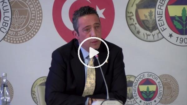 """'Ali Koç: """"Fenrbahçe'nin yaşadığı hakem hataları sistematik"""""""