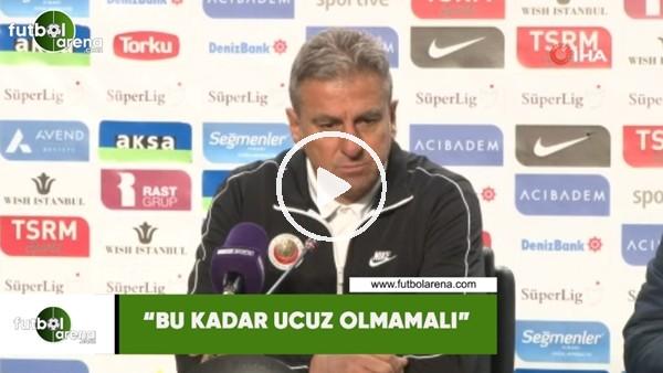 """Hamza Hamzaoğlu'nun maç sonu tepkisi! """"Bu kadar ucuz olmamalı"""""""