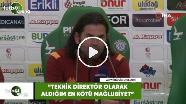 """'İbrahim Üzülmez: """"Teknik direktör olarak aldığım en kötü mağlubiyet"""""""