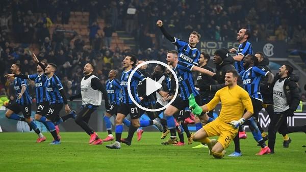 'Inter soyunma odasında galibiyet sevinci