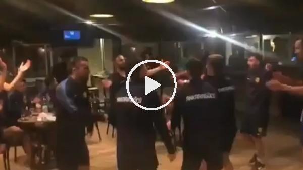 'Ankaragücü futbolcuları Fenerbahçe galibiyetini coşkuyla kutladı