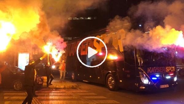 Kayserispor kafilesi İstanbul'da