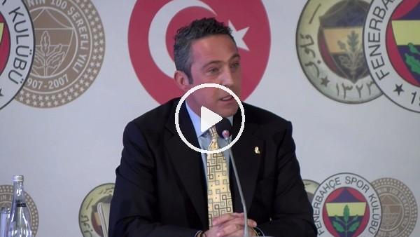 Ali Koç'tan Basın Toplantısında Önemli Açıklamalar