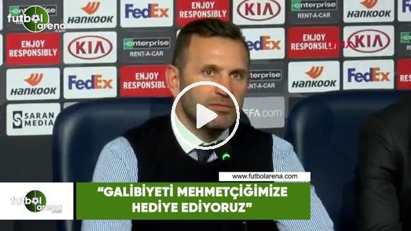 """'Okan Buruk: """"Galibiyeti Mehmetçiğimize hediye ediyoruz"""""""
