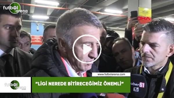 """'Ahmet Ağaoğlu: """"Ligi nerede bitireceğimiz önemli"""""""