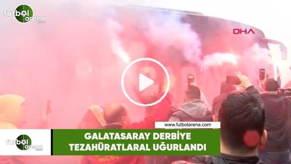 Galatasaray derbiye tezahüratlarla uğurlandı