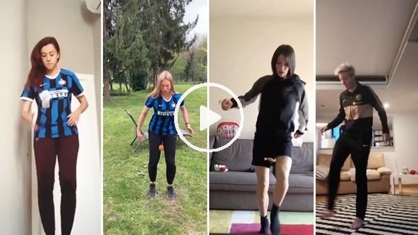 ' Inter kadın futbol takımından 'Evde Kal' çağrısı