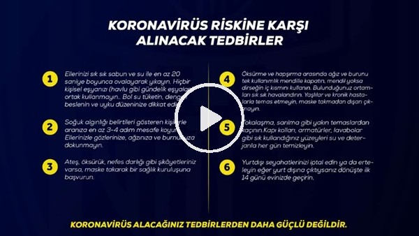 'Ankaragücü'nden 'koronavirüs'e karşı 14 altın kural