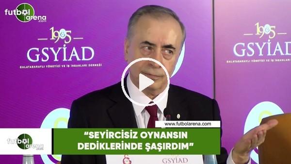 """Mustafa Cengiz: """"Seyircisiz oynansın dediklerinde şaşırıdm"""""""