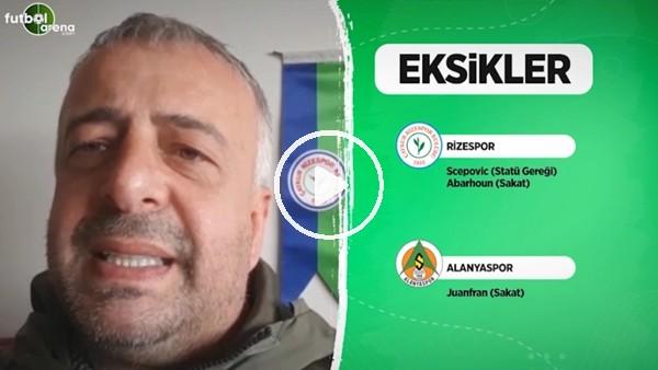 'Çaykur Rizespor'da Aytemiz Alanyaspor maçı öncesi son durum