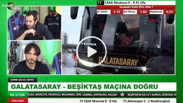 Galatasaray ve Beşiktaş takım otobüseri stada geldi
