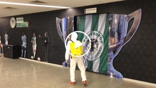 'Konyaspor - Fenerbahçe maçı öncesi dezenfekte çalışmaları