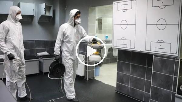 'Denizli Atatürk Stadı'nda koronavirüs temizliği