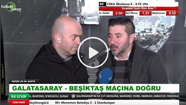 Ali Naci Küçük, Galatasaray'ın Beşiktaş derbisindeki ilk 11'ini değerlendirdi
