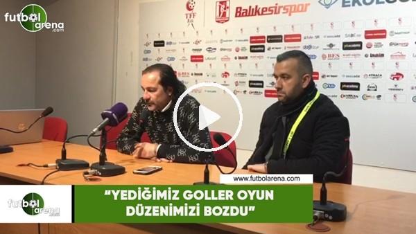 """'Yusuf Şimşek: """"Yediğimiz goller oyun düzenimizi bozdu"""""""