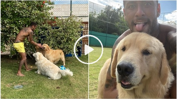 'Neymar, köpekleriyle futbol oynadı