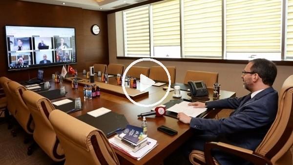 'Bakan Kasapoğlu, federasyon başkanlarıyla görüştü