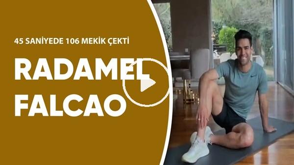 'Radamel Falcao, 45 saniyede 106 mekik çekti