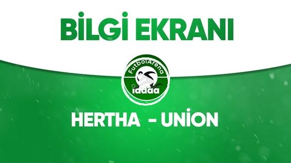 Hertha Berlin - Union Berlin bilgi ekranı (22 Mayıs 2020)
