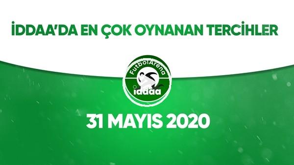 'İddaa'da Günün En Çok Oynanan Tercihleri (31 Mayıs 2020)