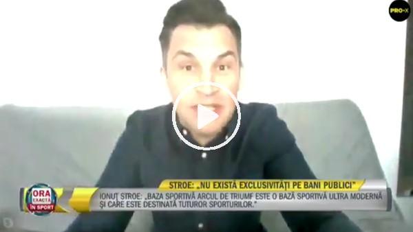 'Romanya Spor Bakanı canlı yayında güldürdü