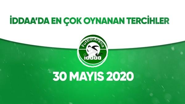 İddaa'da Günün En Çok Oynanan Tercihleri (30 Mayıs 2020)