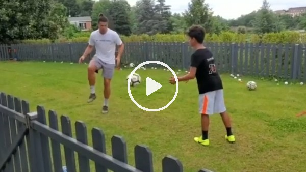'Cristiano Ronaldo antrenmanlarını oğlu ile birlikte yapıyor