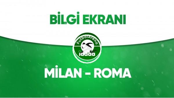 'Milan - Roma Bilgi Ekranı (28 Haziran 2020)