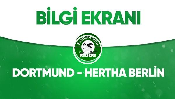 'Dortmund - Hertha Berlin Bilgi Ekranı (6 Haziran 2020)