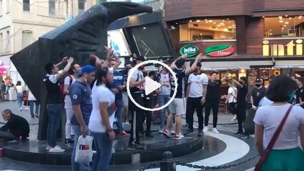 'Beşiktaşlı taraftarlar maç saatini bekliyor