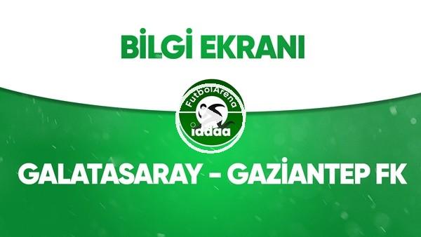 'Galatasaray - Gaziantep FK Bilgi Ekranı (21 Haziran 2020)