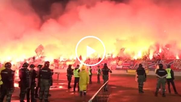 Partizan - Kızılyıldız maçı öncesi atmosfer
