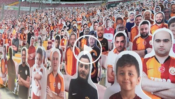 Galatasaraylı taraftarların fotoğrafları tribündeki yerini aldı