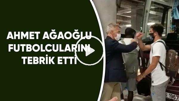 'Ahmet Ağaoğlu galibiyet için futbolcularını tebrik etti